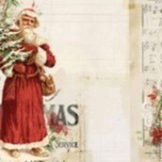Новогодняя бумага Vintage Cristmas Santa