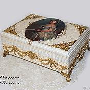 Для дома и интерьера handmade. Livemaster - original item A big box with a portrait of Pearl necklace. Handmade.