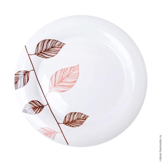 Фарфоровая тарелка из коллекции Стебель