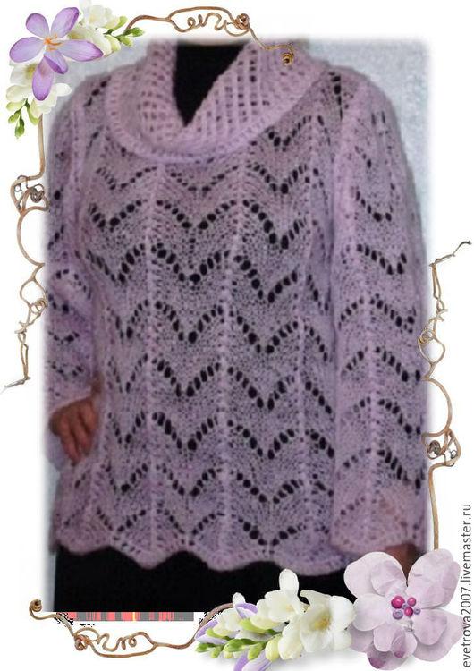 """Кофты и свитера ручной работы. Ярмарка Мастеров - ручная работа. Купить Джемпер """"Розовый туман"""". Handmade. Мохеровый, джемпер вязаный"""