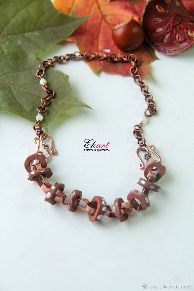 Necklace under the neck ' roasting in chocolate', Necklace, Moscow,  Фото №1