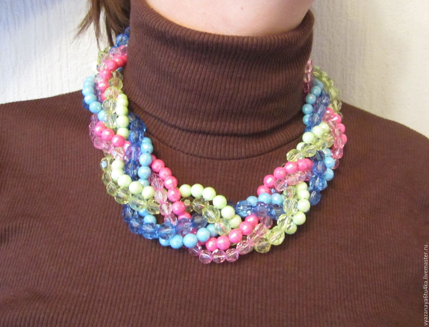 Choker-braid ' Spring has come', Necklace, Moscow,  Фото №1