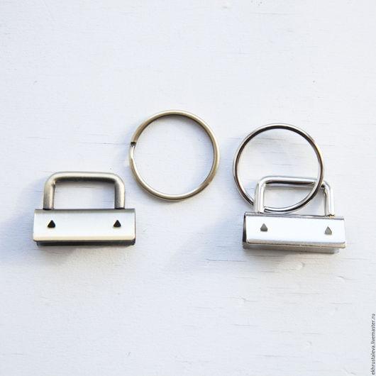 Шитье ручной работы. Ярмарка Мастеров - ручная работа. Купить Кольцо для брелока + зажим, 2 цвета. Handmade. Серебряный