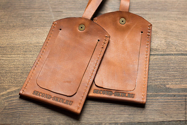 2774b35062bd Купить Бирка для багажа Кошельки и визитницы ручной работы. Бирка для багажа.  Simon Second Skin.