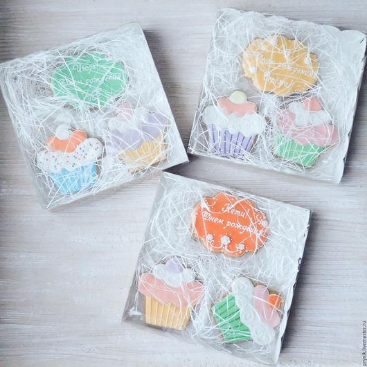 Кулинарные сувениры ручной работы. Ярмарка Мастеров - ручная работа. Купить Пряник Капкейк. Handmade. Капкейк, расписные пряники