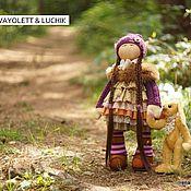 Куклы и игрушки ручной работы. Ярмарка Мастеров - ручная работа куколка Vayolett & зайчик Luchik. Handmade.