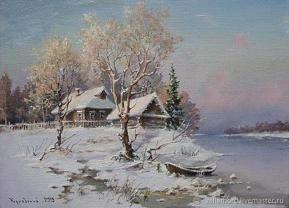 Авторская схема вышивки крестом Лодка в снегу, Схемы для вышивки, Киров,  Фото №1