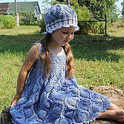 """Работы для детей, ручной работы. Ярмарка Мастеров - ручная работа Летнее красивое платье-сарафан для девочки """"Фея капелька"""". Handmade."""