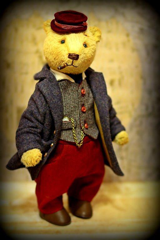 Мишки Тедди ручной работы. Ярмарка Мастеров - ручная работа. Купить Авторский коллекционный мишка франт 28 см. Handmade.