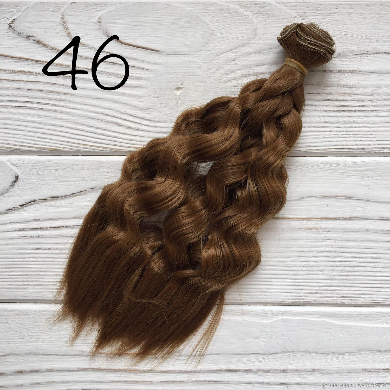 Шитье ручной работы. Ярмарка Мастеров - ручная работа. Купить Волосы коса светло-каштановый №46 (25см). Handmade. Волосы