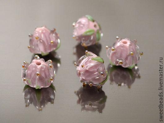 Для украшений ручной работы. Ярмарка Мастеров - ручная работа. Купить Бусина Принцесса лампворк лэмпворк, лиловая. Handmade. Розовый