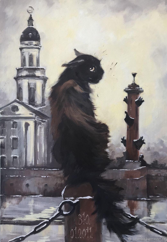 «Местная достопримечательность», картина, холст/масло, Картины, Санкт-Петербург,  Фото №1
