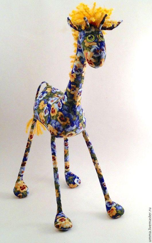 Игрушки животные, ручной работы. Ярмарка Мастеров - ручная работа. Купить Цветочный   Жираф)). Handmade. Разноцветный, забавный подарок, проволока