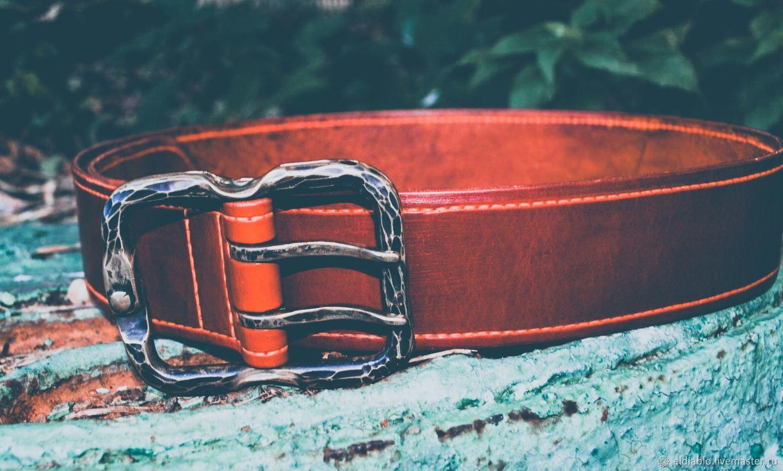 Ремень кожаный мужской (цвет Saddle tan), Ремни, Москва,  Фото №1