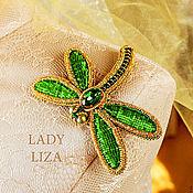 Украшения handmade. Livemaster - original item A beaded brooch Dragonfly. Handmade.