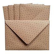 Материалы для творчества ручной работы. Ярмарка Мастеров - ручная работа Крафт-конверты 5 шт.. Handmade.