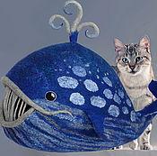 Для домашних животных, ручной работы. Ярмарка Мастеров - ручная работа Синий кит. Домик для домашних животных валяный шерстяной. Handmade.