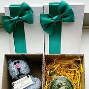 Сувениры и подарки ручной работы. Ярмарка Мастеров - ручная работа Коробка из микрогофрокартона с бантиком. Handmade.