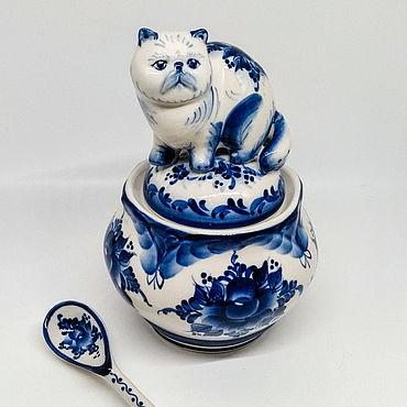 Сувениры и подарки ручной работы. Ярмарка Мастеров - ручная работа Сахарница кошка перс.. Handmade.