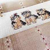 Сумки и аксессуары handmade. Livemaster - original item Zipper hand embroidery Yorkie. Handmade.