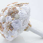 Свадебный салон handmade. Livemaster - original item Wedding Brooch bouquet