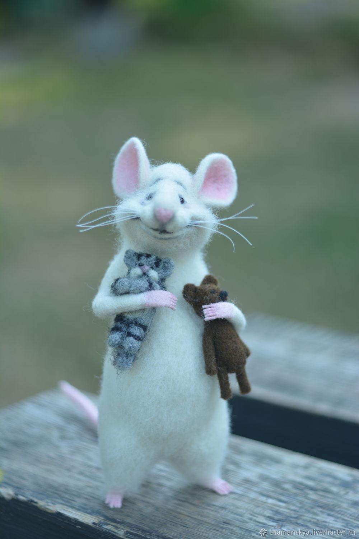 Мышка с игрушками, Войлочная игрушка, Черкассы,  Фото №1