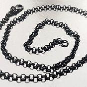 Материалы для творчества handmade. Livemaster - original item Rolo chain art. 7-17 with padlock for jewelry from a jewelry alloy. Handmade.