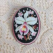 Винтаж handmade. Livemaster - original item Brooch-pendant Orchid Toshikane Japan 50-60 g.. Handmade.