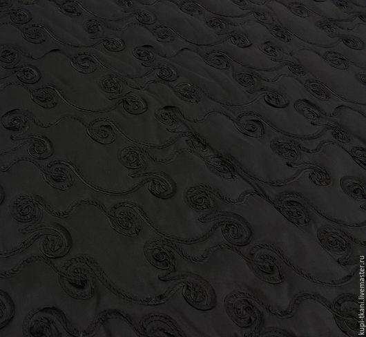 Шитье ручной работы. Ярмарка Мастеров - ручная работа. Купить Курточная ткань Италия черная. Handmade. Курточная ткань, курточная
