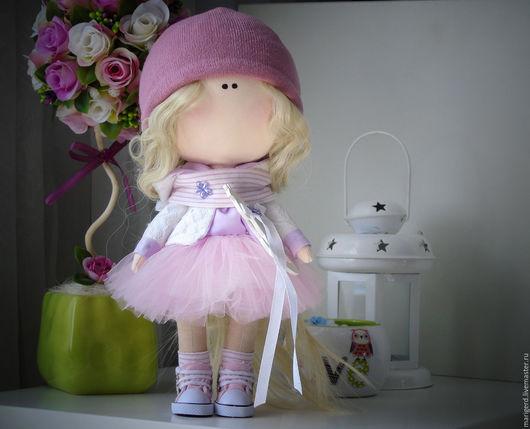 Коллекционные куклы ручной работы. Ярмарка Мастеров - ручная работа. Купить Интерьерная кукла. Handmade. Розовый, интерьерная кукла, тильда