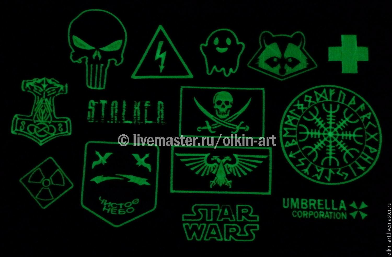 Photoluminescent Stripe White Thread Glow Green Shop Online On