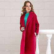 Одежда handmade. Livemaster - original item Coat of Alpaca coral color. Handmade.