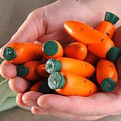 """Куклы и игрушки ручной работы. Ярмарка Мастеров - ручная работа Счетный материал """"12 морковок в льняном мешочке"""". Handmade."""