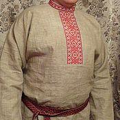 Одежда ручной работы. Ярмарка Мастеров - ручная работа рубаха мужская, праздничная с вышивкой. Handmade.