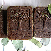 Косметика ручной работы handmade. Livemaster - original item EUCALYPTUS herbal bath soap with powder of eucalyptus leaves and silk.. Handmade.
