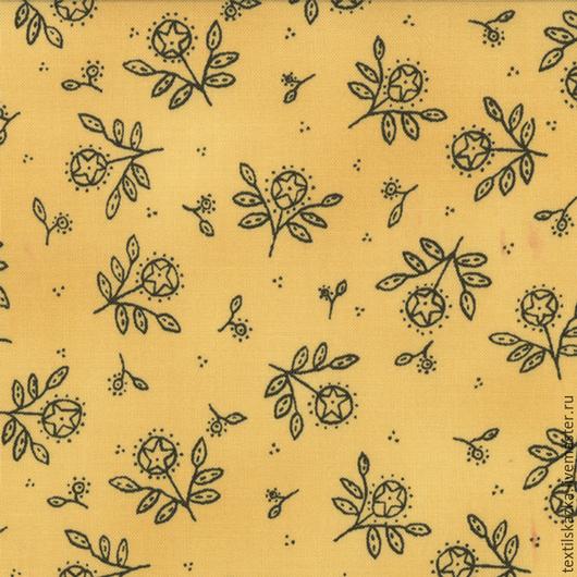 Шитье ручной работы. Ярмарка Мастеров - ручная работа. Купить Ткань хлопок США 6047-14. Handmade. Желтый, пэчворк