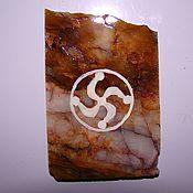 Сувениры и подарки handmade. Livemaster - original item Magnet natural stone Slavic charm Painting on stone. Handmade.