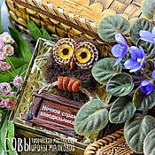 Сувениры и подарки ручной работы. Ярмарка Мастеров - ручная работа СОВА магнит. Handmade.