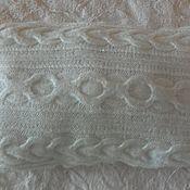 Для дома и интерьера ручной работы. Ярмарка Мастеров - ручная работа Вязаная подушка косами. Handmade.