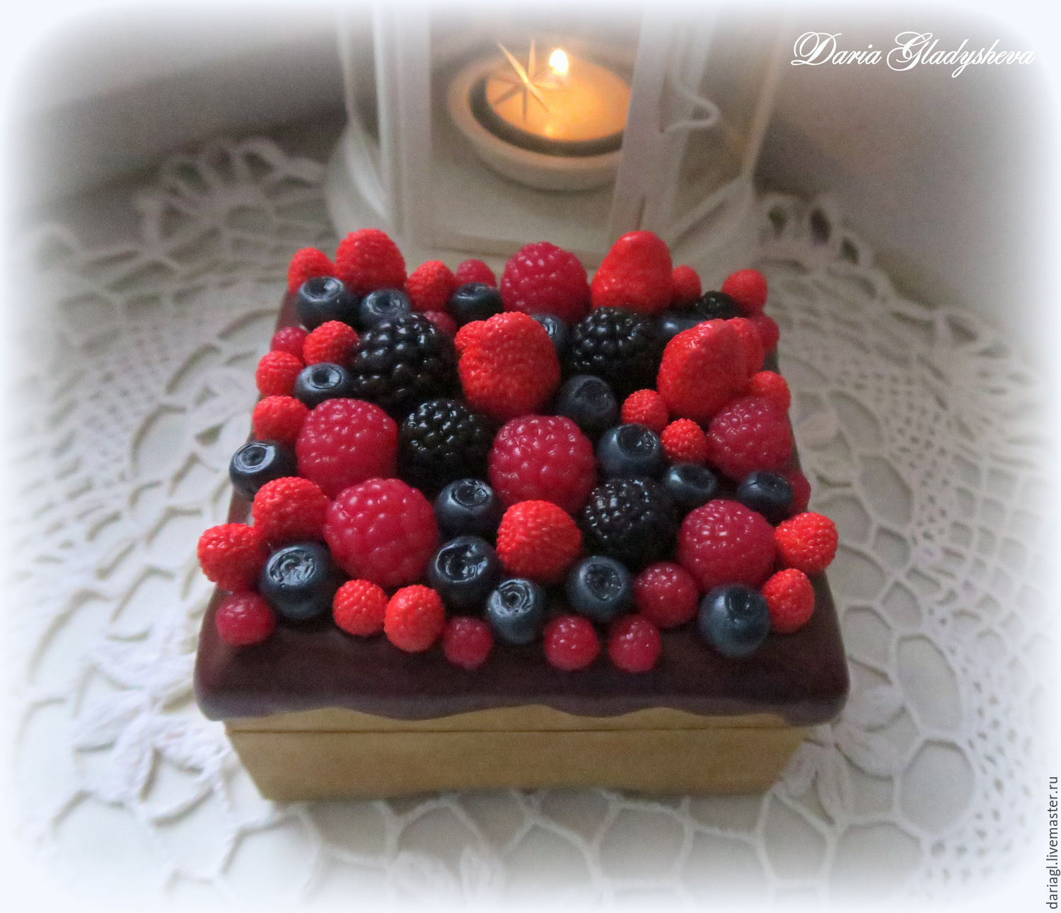 """Box with miniature """"Berry mix"""" from polymer clay, Box, Moscow,  Фото №1"""
