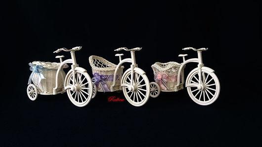 """Другие виды рукоделия ручной работы. Ярмарка Мастеров - ручная работа. Купить Кашпо """"Велосипед"""" Х3. Handmade. Кашпо, велосипед"""