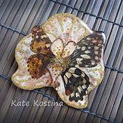 Украшения ручной работы. Ярмарка Мастеров - ручная работа Брошь с бабочками и орхидеей. Handmade.