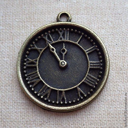 Для украшений ручной работы. Ярмарка Мастеров - ручная работа. Купить Подвеска для кулона часы, циферблат. Handmade.