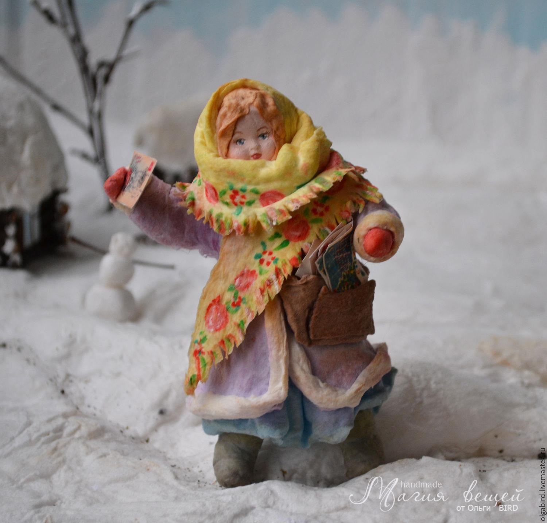 Ватная елочная игрушка ПОЧТАЛЬОН ЛЮБАША, Елочные игрушки, Протвино,  Фото №1