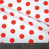 Материалы для творчества handmade. Livemaster - original item Polka dot fabric, black polka dot fabric, red polka dot fabric. Handmade.