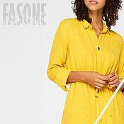 Одежда handmade. Livemaster - original item Yellow dress-shirt