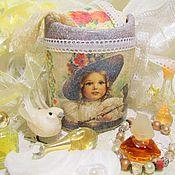 """Для дома и интерьера ручной работы. Ярмарка Мастеров - ручная работа Мини-ведерко мусорка для ванны или стола """"Fleur"""". Handmade."""