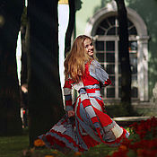 Одежда ручной работы. Ярмарка Мастеров - ручная работа Лоскутное пальто Норвежские фьорды. Handmade.