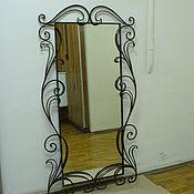 Для дома и интерьера ручной работы. Ярмарка Мастеров - ручная работа Большое зеркало в кованом обрамлении. Handmade.