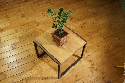 Мебель ручной работы. Ярмарка Мастеров - ручная работа. Купить Стол -Box_one. Handmade. Коричневый, металл